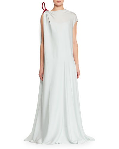 Cilida High-Neck A-Line Evening Gown with Rope Detail
