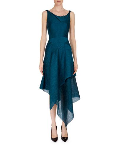 Meltonby Sleeveless Asymmetric-Hem Dress