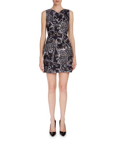 Foxley Sleeveless Paisley-Print Dress