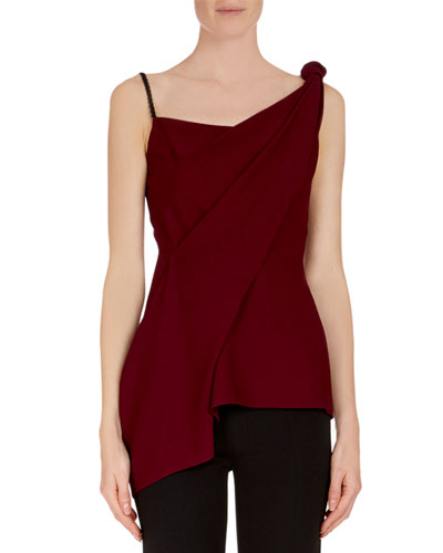 Goxhill One-Shoulder Drape Twist Top