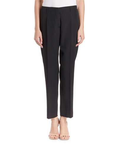 Paola Slim-Leg Wool Pants