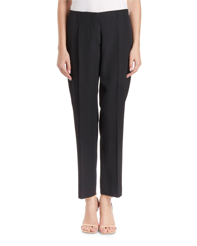 Paola Slim-Leg Wool Pants