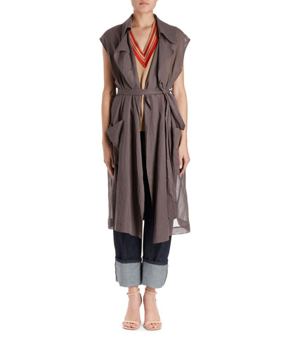 Remplir Organza Trench-Style Jacket