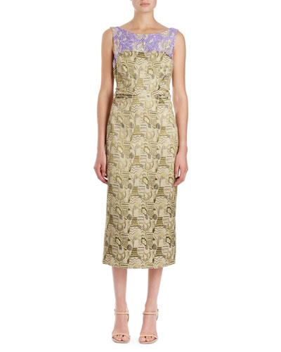 Delicia Brocade Sheath Dress