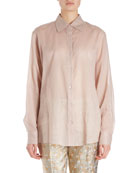Clavell Long-Sleeve Cotton Voile Blouse