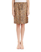 Scotia Leopard & Floral Reversible Silk Skirt