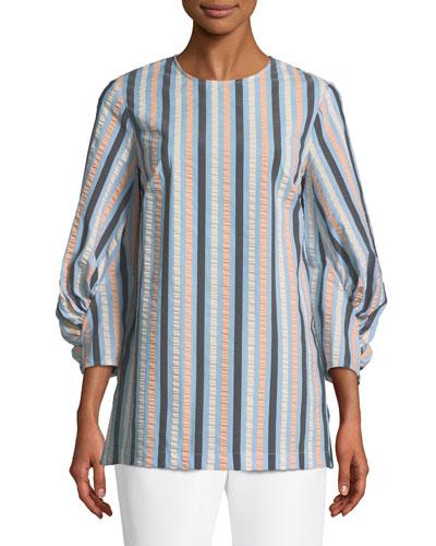 Full-Sleeve Striped Blouse