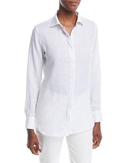 Loro Piana Kara Solaire Delave Linen Shirt