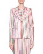 Candy-Striped Double-Breasted Jacket