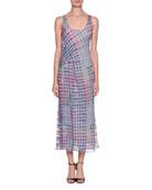 Multicolor Plaid Graphic Tank Dress