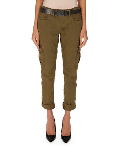 Cropped Military Cargo Pants