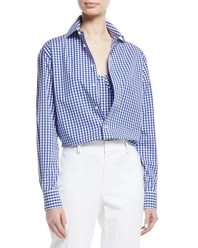 Adrien Gingham Check Cotton Shirt