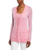 Cashmere Featherweight Button-Front Cardigan