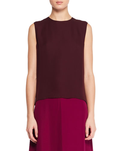 Shelly Sleeveless Silk Top
