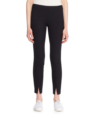 Thilde Straight-Leg Ankle Textured Crepe Pants
