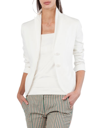 Two-Button Jersey Blazer
