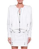 Double-Zip Cotton-Twill Jacket