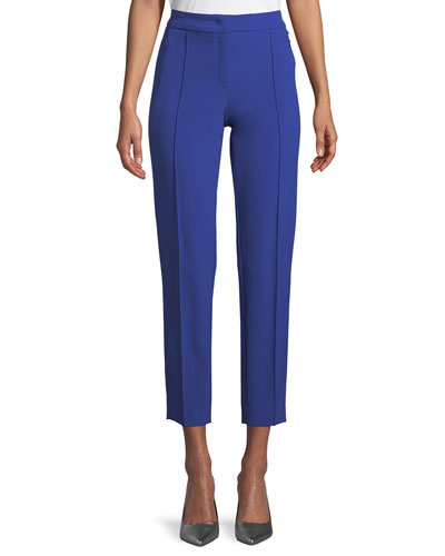 Tusko High-Waist Straight-Leg Ankle Pants