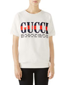 Short-Sleeve Gucci City Sweatshirt