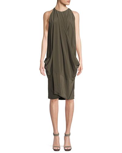 Urban Zen  WASHED SILK CROSSOVER DRESS