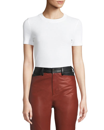 Crewneck Short-Sleeve Classic Slim-Fit T-Shirt