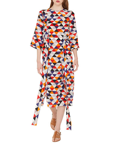 dcd68c678 Tie Waist Silk Dress