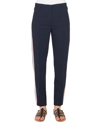 Colin Side-Stripe Wool Pants
