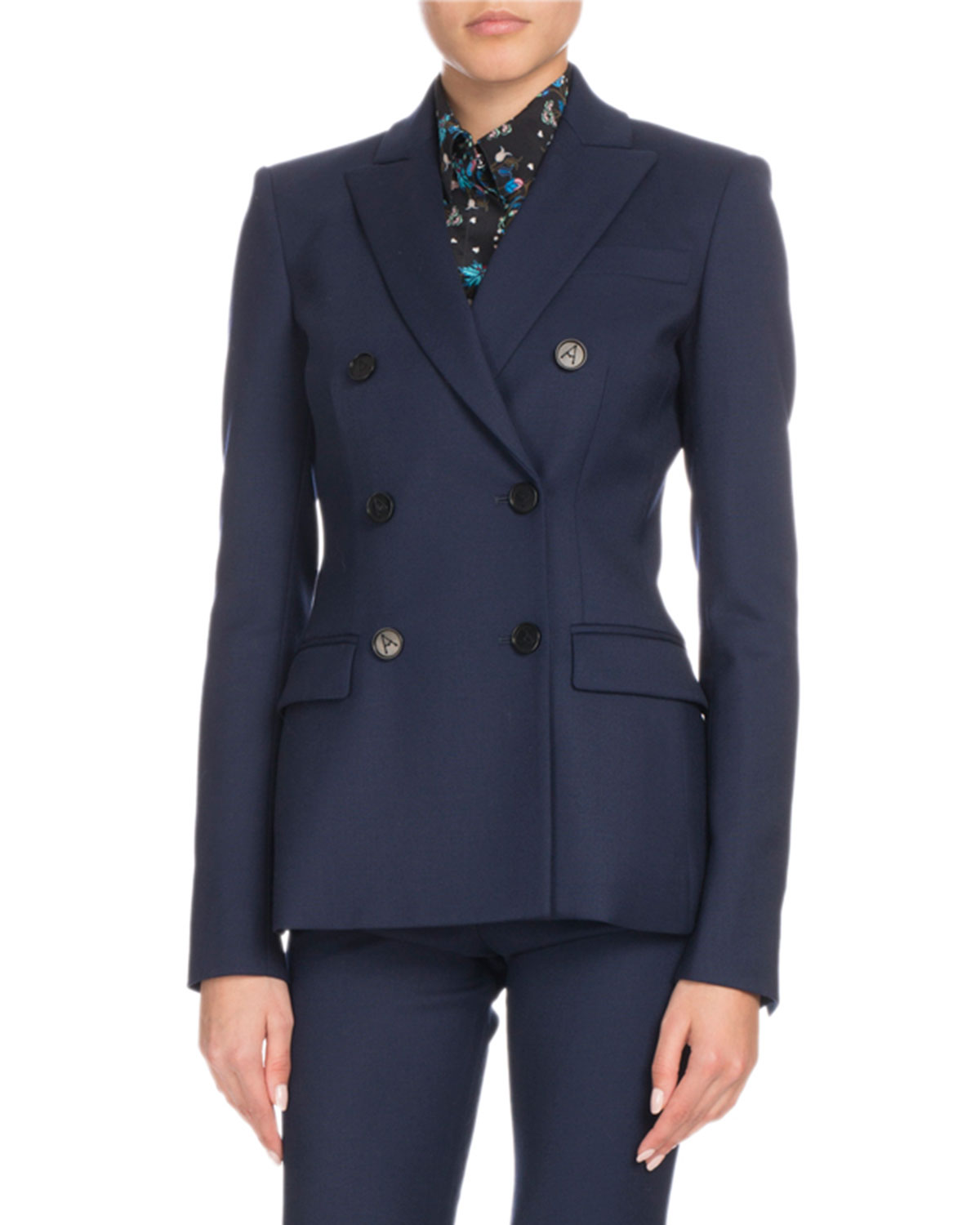 INDIANA VIRGIN WOOL DOUBLE-BREASTED BLAZER