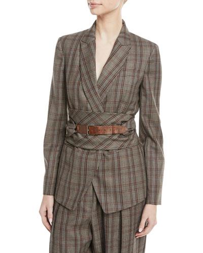 60e72f04c Leather Wool Jacket | Neiman Marcus