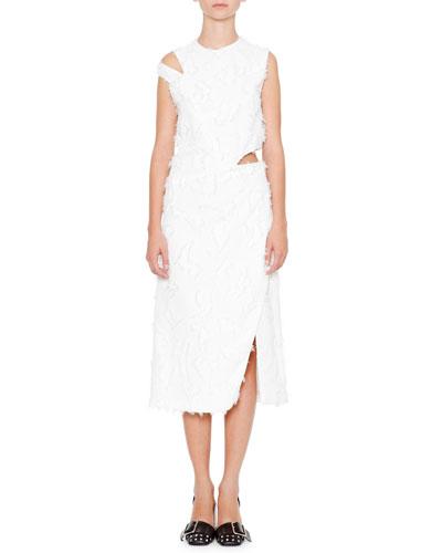 Antartide Sleeveless Cold-Shoulder Dress, Off White