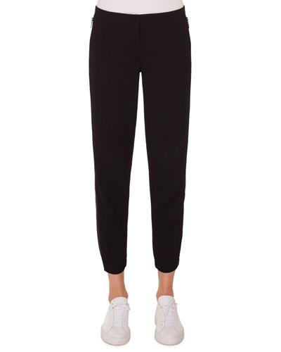 Milla High-Waist Straight-Leg Ankle Wool Pants