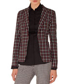 Akris punto Long-Sleeve Eyelet-Collar Button-Down Cotton Shirt