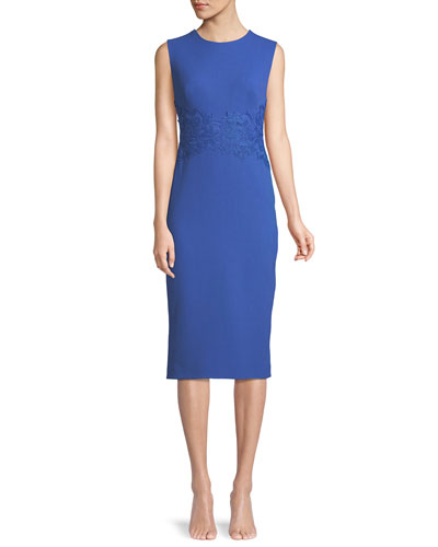 3da2fa49839 Quick Look. Lela Rose · Sleeveless Crewneck Fitted Sheath Dress w  Lace