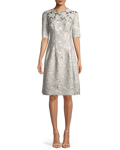 663afe669 Ivory A Line Dress