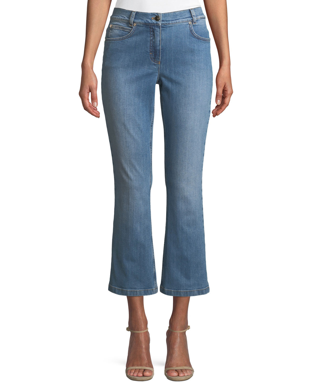 Flared-Leg Crop Jeans