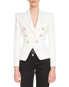 Classic Six-Button Cotton Jacket