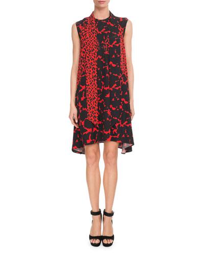 b68cbab433 Quick Look. Givenchy · Sleeveless Leopard-Print ...