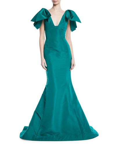 Fitted evening gown neiman marcus quick look junglespirit Choice Image