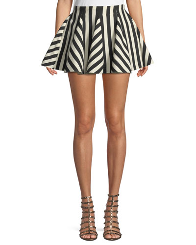 Re-Edition Organza Stripes Short Skirt