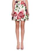 Rose & Peony Brocade Skirt