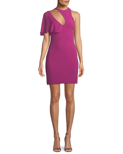 5ca0aa3c86ad Cutout Spandex Cocktail Dress | Neiman Marcus