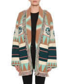 New Icon Self-Belt Jacquard Cashmere Cardigan