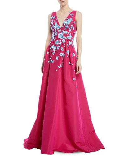 Carolina herrera full skirt gown neiman marcus quick look junglespirit Choice Image