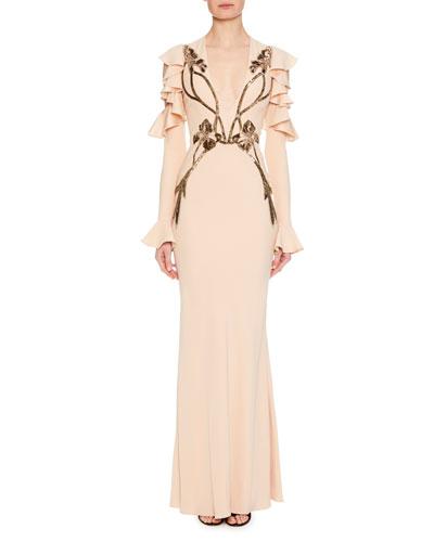 Alexander mcqueen long gown neiman marcus quick look junglespirit Choice Image