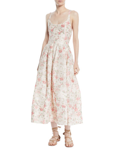 733d7e02413a9 Quick Look. Brock Collection · Daphne Scoop-Neck Sleeveless Cherry  Blossom-Print Long Dress