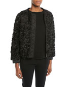 Emporio Armani Embellished Zip-Front Jacket w/ Detachable