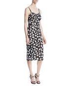 Michael Kors Collection V-Neck Sleeveless Floral Lace Guipure