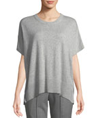 Michael Kors Collection Crewneck Short-Sleeve Melange Draped