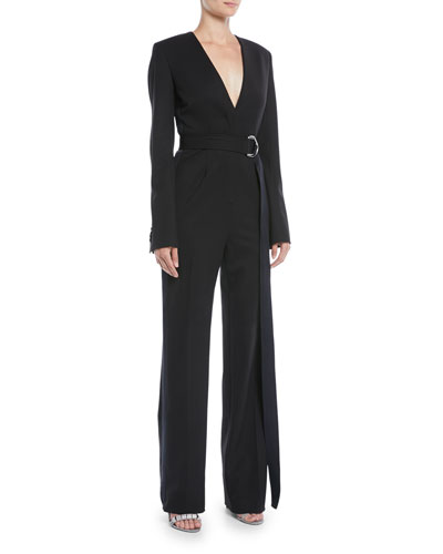 876f59adcc6 Blue Belted Jumpsuit