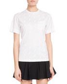 Chloe Crewneck Short-Sleeve Horse-Print Cotton Jersey T-Shirt w/